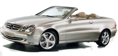 Présentation de la <b>Mercedes-Benz CLK 320 CDI </b> de 2005.