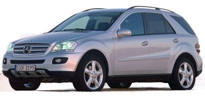 Présentation du SUV <b>Mercedes-Benz M</b> de 2005.