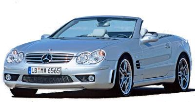 Présentation de la <b>Mercedes-Benz SL 65 AMG</b> de 2004.