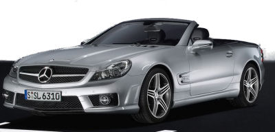 Présentation de la  <b>Mercedes-Benz SL 63 AMG</b> de 2008.