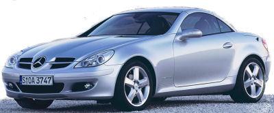 Présentation du SUV <b>Mercedes-Benz SLK 55 AMG</b> de 2004.