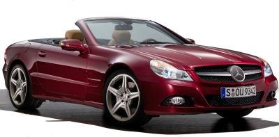 Présentation de la <b>Mercedes-Benz SL</b> de 2009.